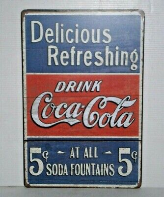 CCRMS2 Coca - Cola Metal Sign 30 cm H X 20 cm W New