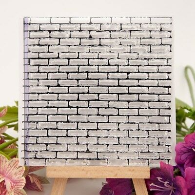 Bricks wall Transparent Clear Silicone Rubber Stamp Cling DIY Scrapbooking DA