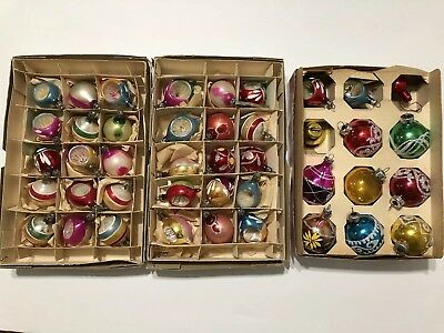 Lot of 42 Vintage Santa Land & Assorted Christmas Ornaments 3 Boxes total