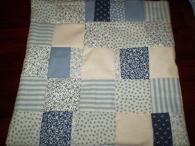 Patchwork Cushion Cover - Blue - A