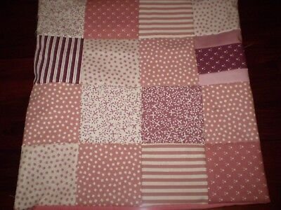 Patchwork Cushion Cover - Pink - H