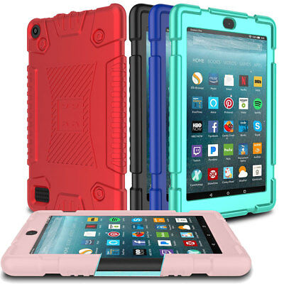 Tablet Soft Silicone Kids Case For Amazon Kindle Fire HD 8 8th 2018/2017 7th Gen