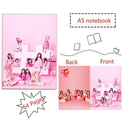 Kpop Twice A5 Notebook Exercise Book Diary Book with Soft Plastic Film Cover