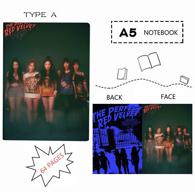 Kpop Red Velvet  A5 Notebook Writing Pads Exercise Diary Book with Film Cover
