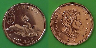 2012 Canada Lucky Loonie From Mint Roll