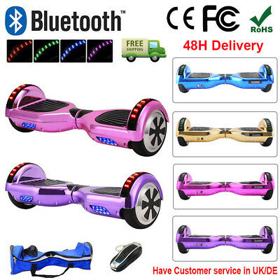 "6.5"" Electric Scooter Self Balancing Scooter Balance Board Bluetooth + Bag +LED"