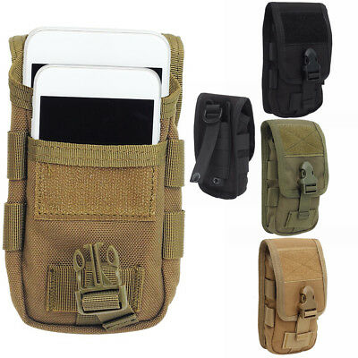 Military Molle Mobile Phone Pouch Bag Package Double-Layer Belt Loop Clip Nylon