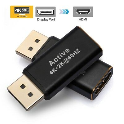[Gold Plated] DisplayPort to HDMI Adapter Converter - Male to Female - Black