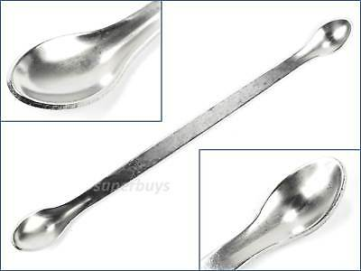 16cm Extra Long Dual Micro Mini Spoon Stainless Steel Double Tiny Metal Scoop