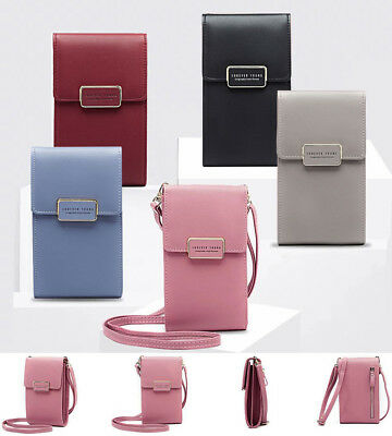 Women's Wallet Purse Shoulder Bag PU Leather Coin Cell Phone Mini Crossbody Bags