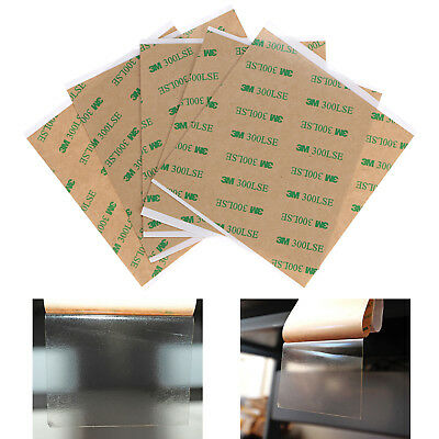 """4""""x8"""" / 4''x4'' 3M 300LSE Double Sided Super Sticky Adhesive Clear Tape 5/10 PCS"""