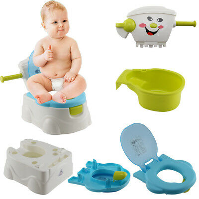 2 in 1 Toddler Potty Training Seat Baby Kids Fun Toilet Trainer Chair Boy Blue