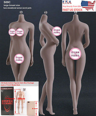 USA TBLeague Phicen 1/6 Female Seamless Suntan Large Bust Figure Body S09C Doll