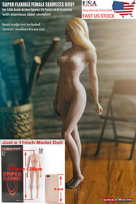 US TBLeague Phicen 1/6 Female Suntan Seamless Body Stainless Steel Doll S23B Toy
