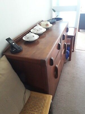 Art Deco Style Solid Wooden Sideboard