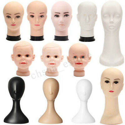 Pro Female Plastic Abstract Mannequin Manikin Head Wig Hair Display Stand US