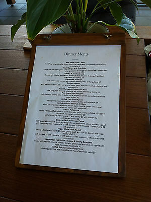 Timber A4 Customer Menu Board Specials Restaurant Cafe Coffee Gift Shop Venue