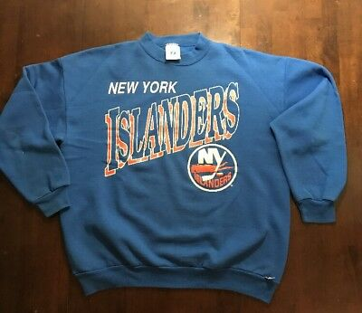 8bc3015ea VTG RARE NHL New York Islanders Wave Fisherman Ccm Hockey Jersey ...