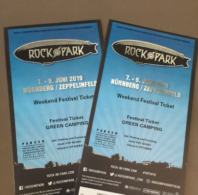 1-2x Rock im Park- Green Camping Ticket 2019