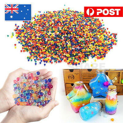 50000pcs Crystal Soil Water Balls Jelly Gel Beads for Vases Orbeez MultiColor AU