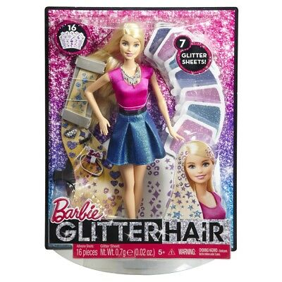 Barbie Glitter Hair Hair Styling Doll Brand New In Box Clg18