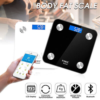 IOS ANDROID SMART Bluetooth Bathroom Body Weight Scale Fitness BMI APP