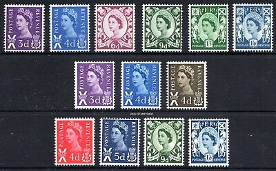 1958 - 70 Scotland SG S1 - S13 Set of 13 Pre-Decimal Definitives Unmounted Mint