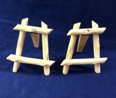 Vintage Antique French Hand Carved Dieppe Easels Place Names Table Markers