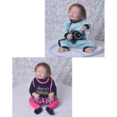Handmade Reborn Doll Clothes Suit 22-23inch Baby Doll Jumpsuit Pants Socks