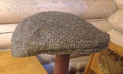 Rare 1910s - 1920s Vintage ORVIS Thick Wool Tweed Newsboy/Flat Cap Size 7 1/ 8