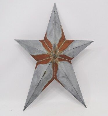 "Primitive Vintage Repro Shabby Country Rusty Hanging Star Small 12"" Size"