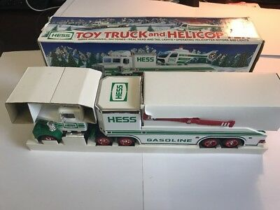 1995 Hess Toy Truck And Helicopter New In Box!!!