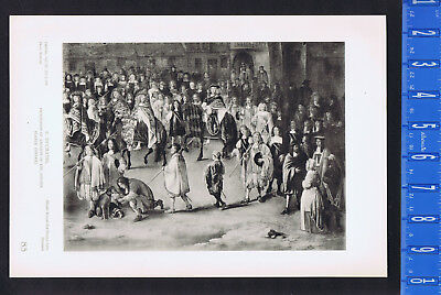 Procession of Knights of the Golden Fleece - F. Duchatel - 1939 Rotogravure