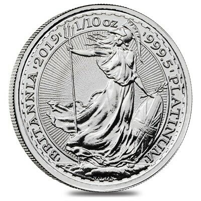 2019 Great Britain 1/10 oz Platinum Britannia Coin .9995 Fine BU