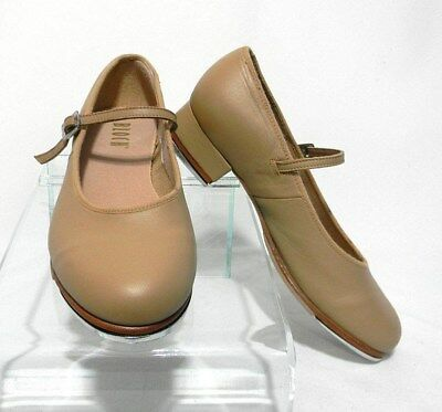 Bloch Tap-On Tap Dance Shoes Leather S0302L Tan Brown Womens Size 7 Sz Mary Jane