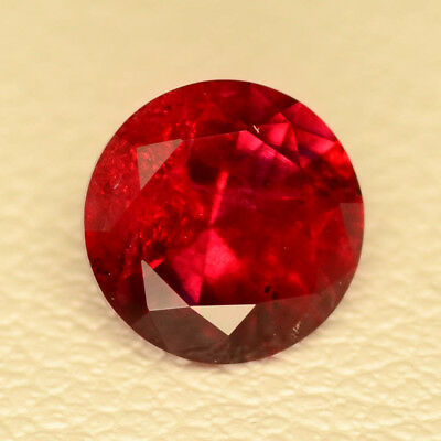 0.77ct Beryl Bixbite Red With Inclusions Lab Created Loose Stone