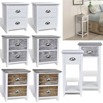 Contemporary Bedside Chest Side Console Table Drawers Cabinet Telephone Stand UK