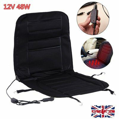 12V Car Van Auto Front Seat Hot Heated Pad Cushion Winter Warmer Protector Cover