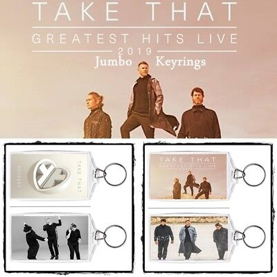 Take That Odyssey ~ Greatest Hits Album & Tour ~ Jumbo Keyring ~ Brand New Items
