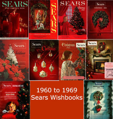 Christmas Catalogs.Sears Wishbook Christmas Catalogs On Disc Years 1960 To 1969