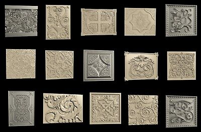 3D STL Model # DECORATIVE PANELS № 1 # 15 PCS for CNC Aspire Artcam 3D Printer