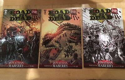 Road of the Dead Highway to Hell #3 *SIGNED* variants RI covers