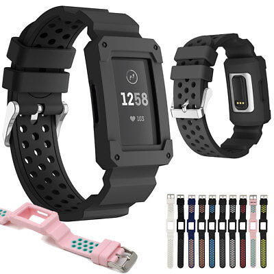 Soft Silicone Sports Replacement Watch Bands Strap Wristband For Fitbit Charge 3