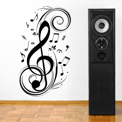MUSIC SWIRLS large wall decals living room office lounge wall stickers