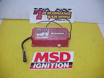 MSD 6ALN Ignition Box #6430 Tested & 7800 RPM Chip NASCAR UMP IMCA Ratrod J11