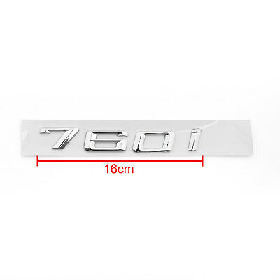 Car Rear Badge Emblem Metal 760i for BMW 760i E65 E66 E67 F01 F02 Chrome