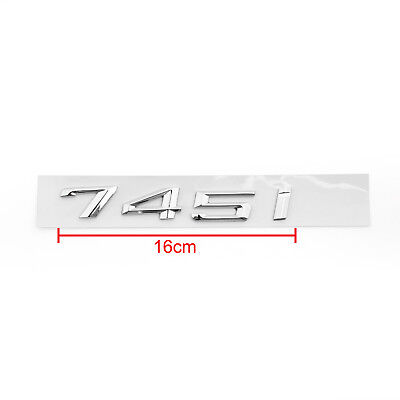 Car Rear Badge Emblem Metal 745i for BMW E66 E65 745 745i Chrome