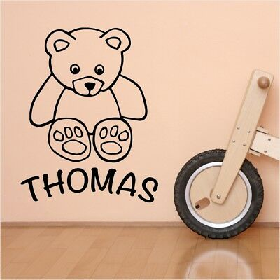 TEDDY BEAR wall stickers personalized kids decorative vinyl decals