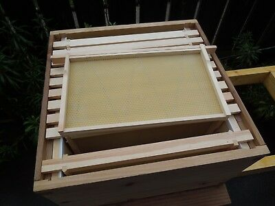 22 National bee hive dn5 Build Frames With Wired Foundation.