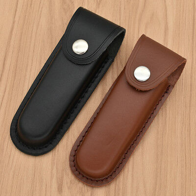 Functional Leather Sheath Pocket for Floding Tools Case Knife Belt Pouch Cover
